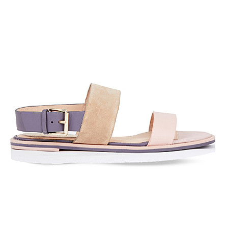 Ted Baker Colour By Numbers Danaeii Strap Detail Flat Sandals In Nude Pink