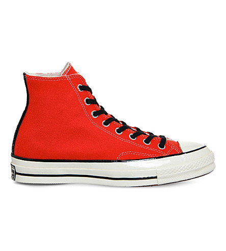 Converse All Star High-top Canvas Trainers In Poppy Red Black Wool