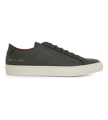 Common Projects Original Achilles Leather Low-top Sneakers In Grey Premium