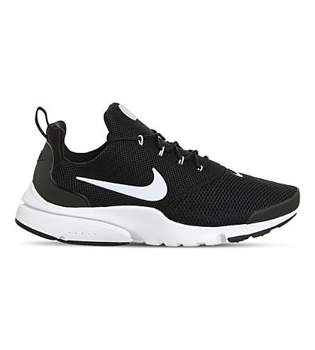 Nike Men's Presto Fly Running Sneakers From Finish Line In Black White