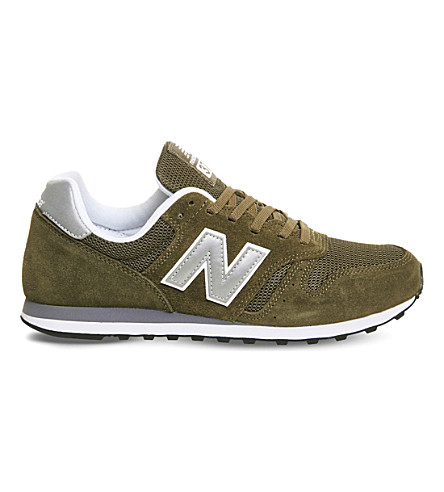 New Balance M373 Suede And Mesh Trainers In Olive Silver