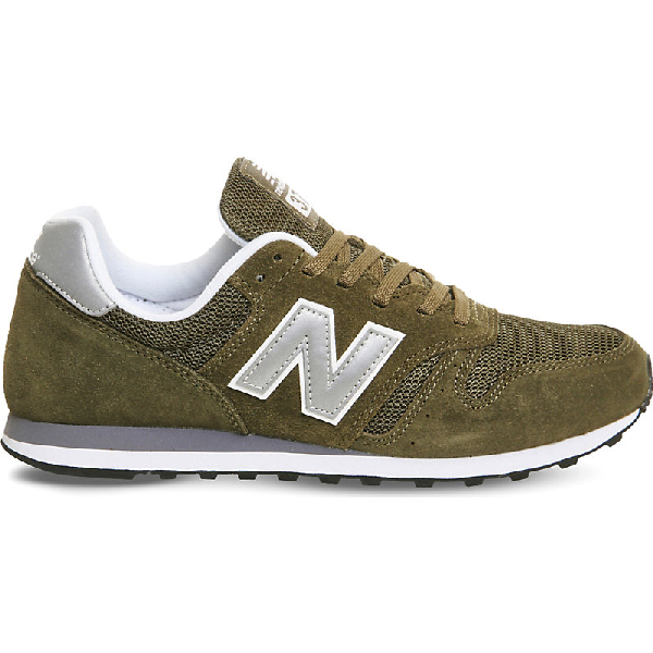 New Balance M373 Suede And Mesh Trainers In Nero
