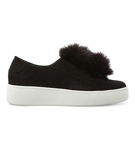 Steve Madden Bryanne Pom Pom Sneakers In Black