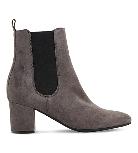 Dune Ola Suede Chelsea Boots In Grey-suede