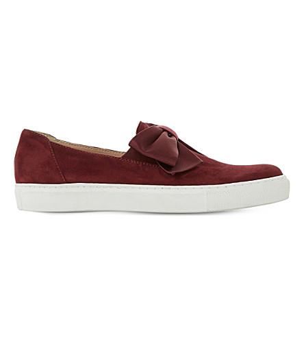Dune Emelia Suede Skate Shoes In Berry-suede