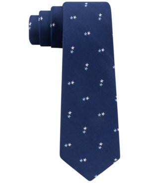 Tommy Hilfiger Men's Stars Slim Silk Tie In Navy