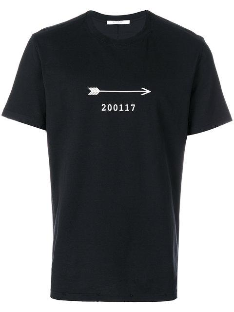 Givenchy 200117 Bow Arrow Printed T-shirt In Black