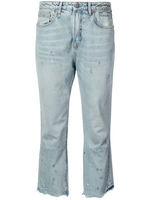R13 Cropped Jeans In Blue