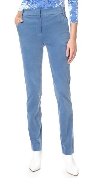 Tibi Blue Moleskin Skinny Pants