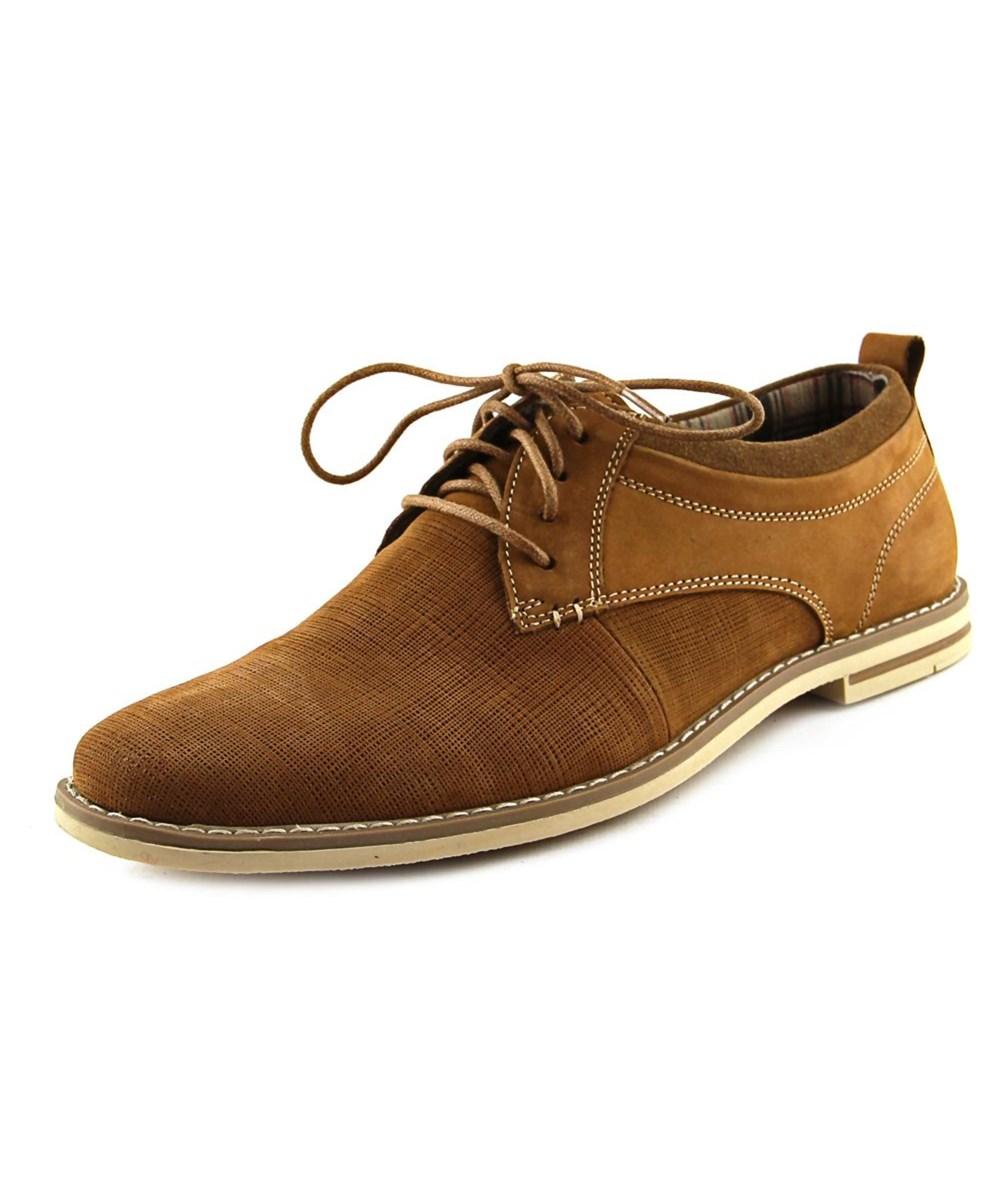 Steve Madden Geraro Men B Plain Toe Leather Tan Oxford In Khaki