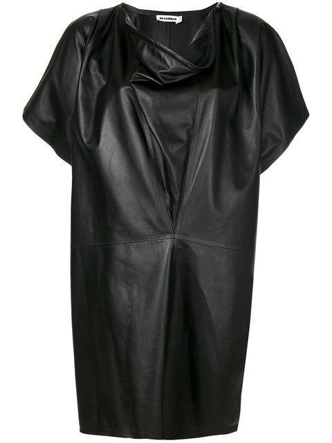 Jil Sander Cowl Neck Dress - Black