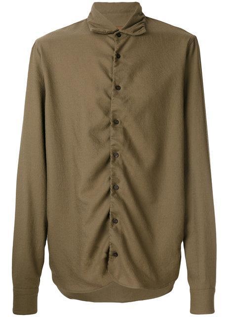 Marni Ruched Detail Shirt - Brown