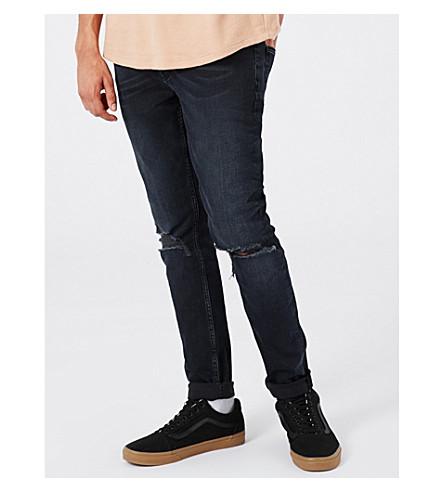 Topman Renee Slim-fit Skinny Jeans In Dark Blue