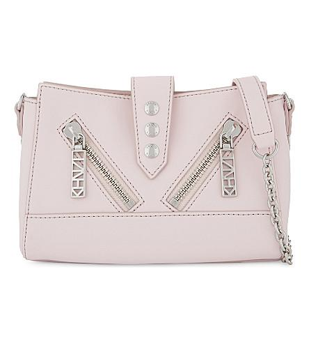 Kenzo Kalifornia Leather Mini Cross-body Bag In Faded Pink