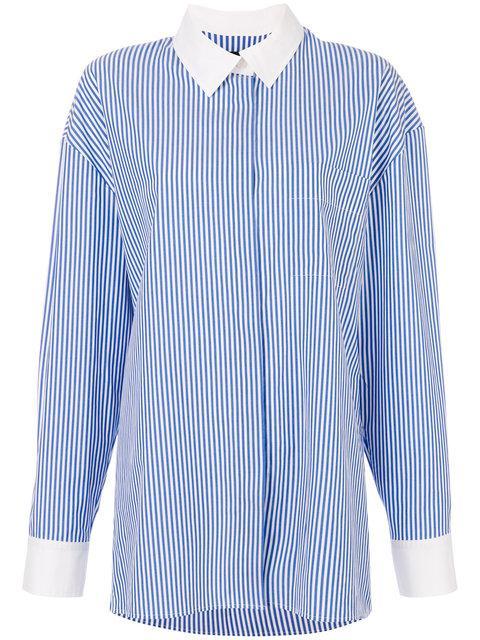 Alexandre Vauthier Striped Shirt - Blue
