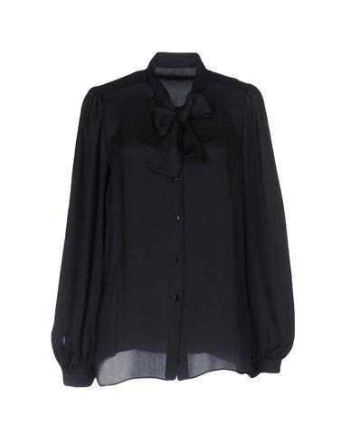 Dolce & Gabbana Silk Shirts & Blouses In Dark Blue