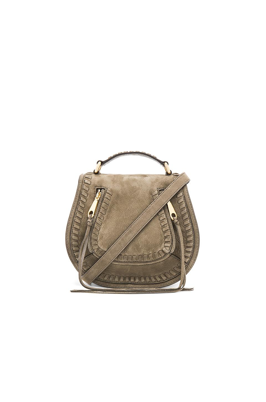 Rebecca Minkoff Small Vanity Saddle Bag In Army In Olive