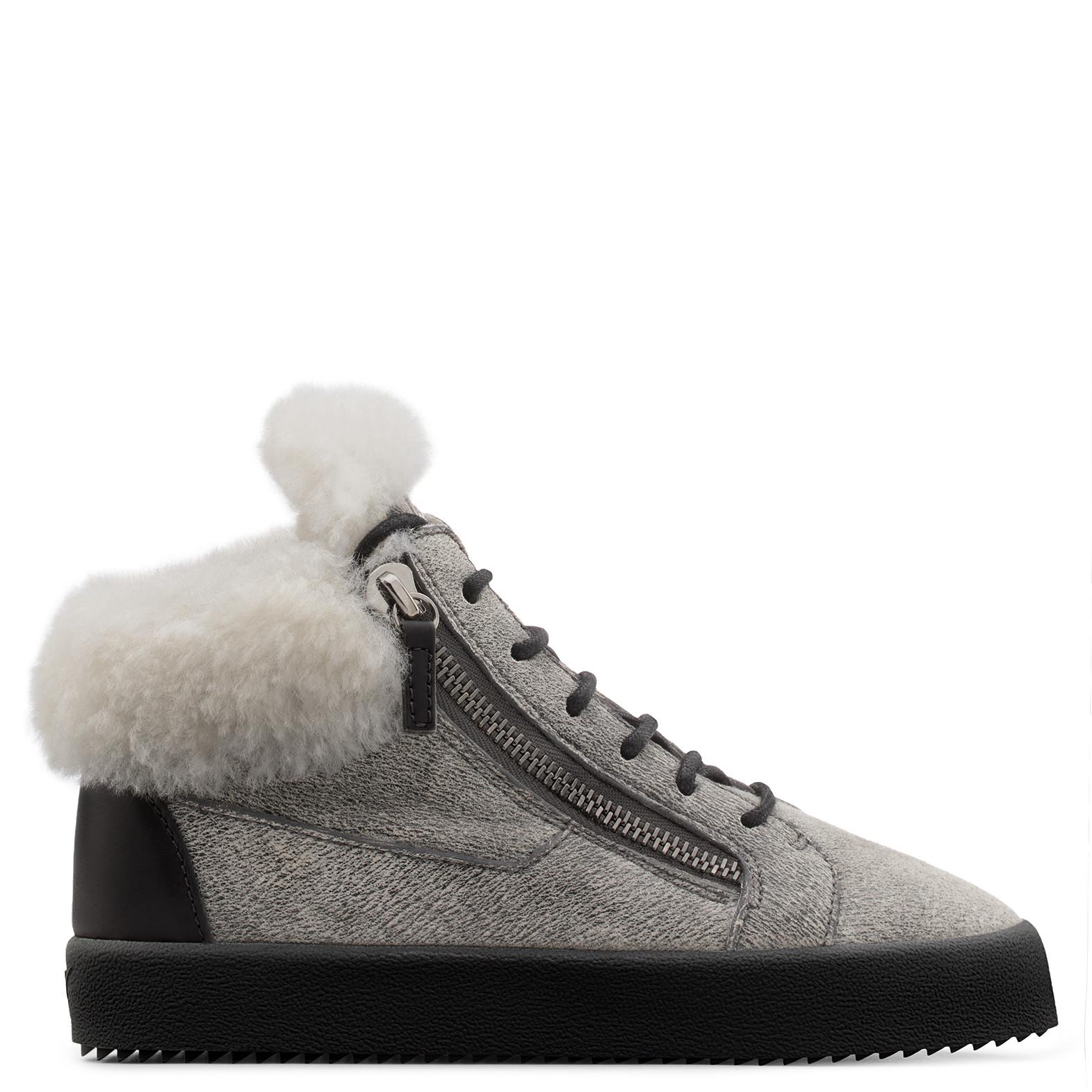 Giuseppe Zanotti - Grey Ram Skin Mid-Top Sneaker Kriss