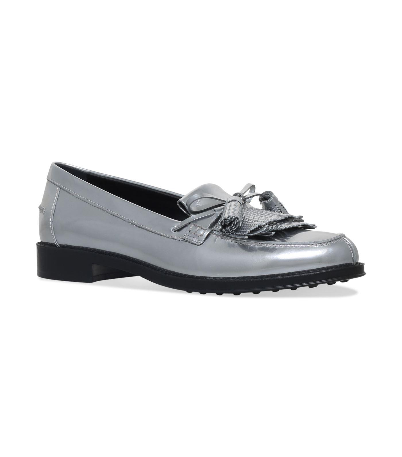 b3bb0d11944 Tod. TOD S. Gomma Metallic Loafer in Silver
