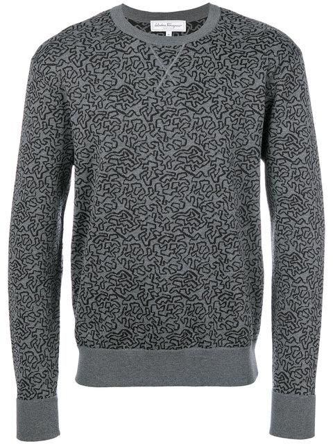 Salvatore Ferragamo Graphic Knit Jumper - Grey