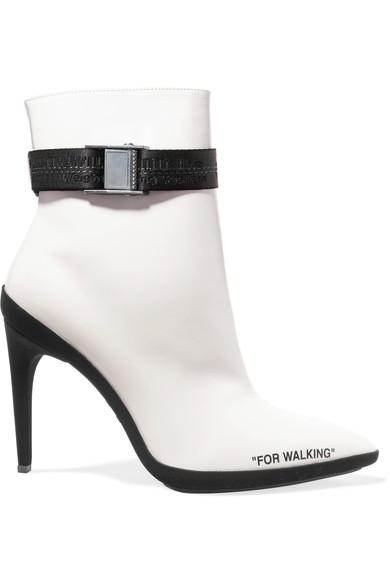 ffbbb26ef6e5 Off-White For Walking Printed Leather Ankle Boots