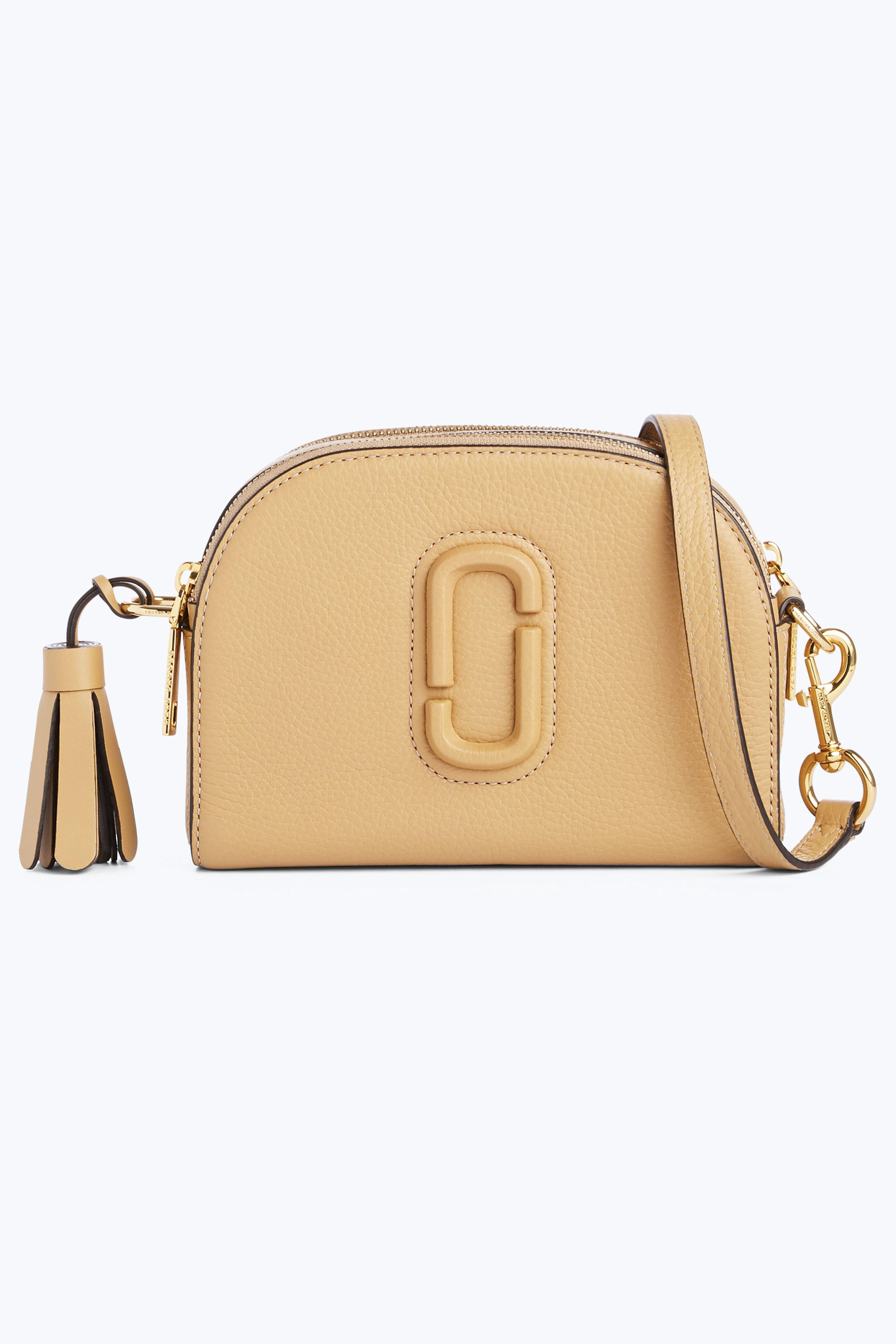 a1c068076c63 Marc Jacobs Shutter Golden Beige Leather Small Camera Bag