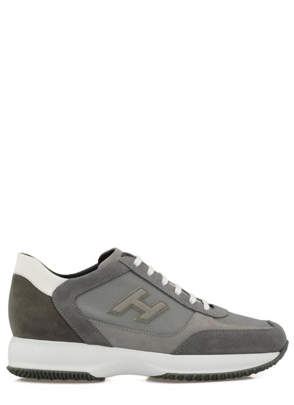 Hogan Interactive Sneakers In Fum Ch+bianco