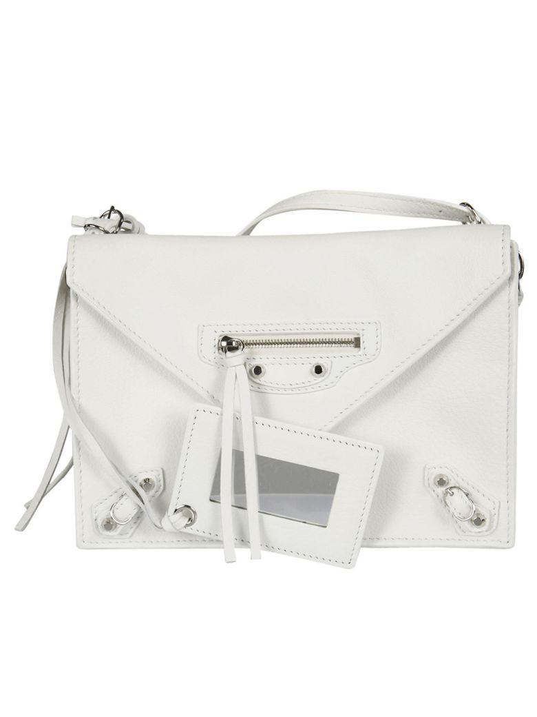 Balenciaga Papier Shoulder Bag In Blanc Optique