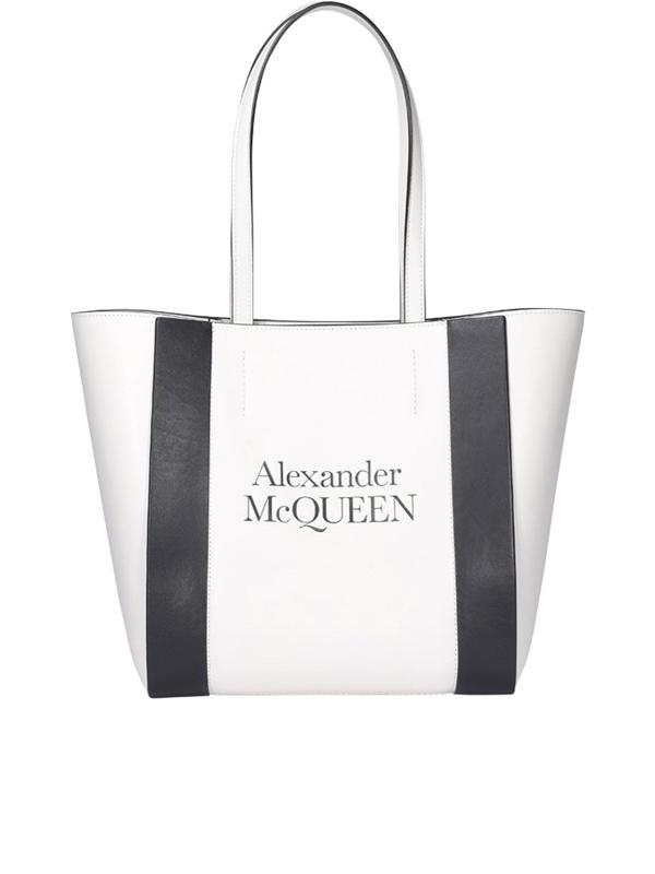 Alexander Mcqueen Medium Tote Bag In White