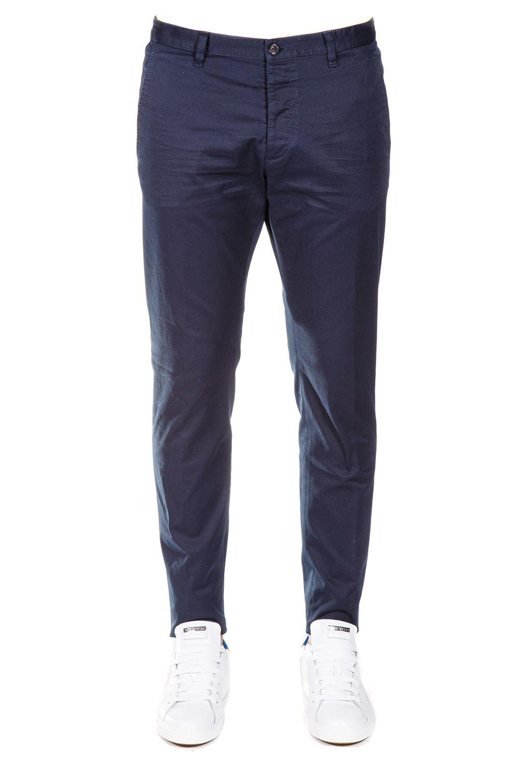 Dsquared2 Cotton Trousers In Blue