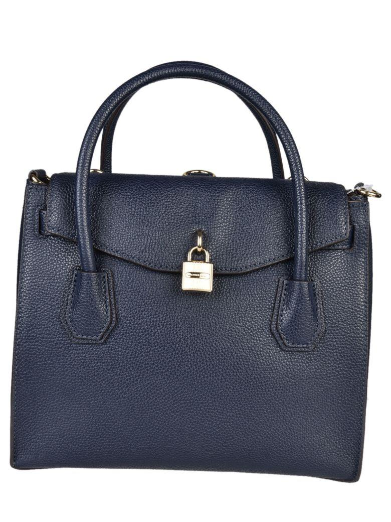 Michael Kors Studio Mercer Large Tote In Admiral
