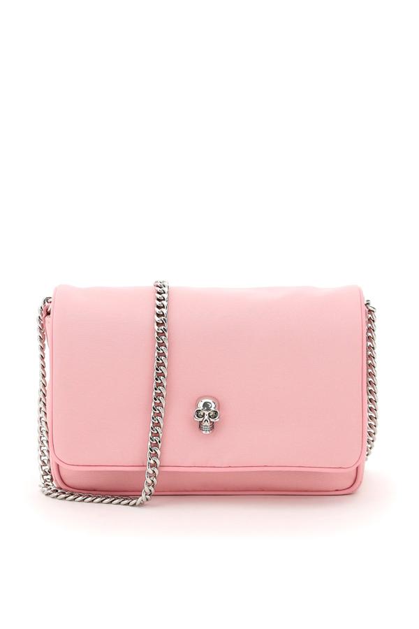 Alexander Mcqueen Small Skull Bag In Pastel Pink (pink)