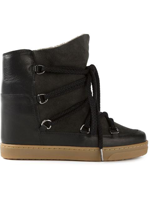 Isabel Marant Nowles Felt Boots In Grigio