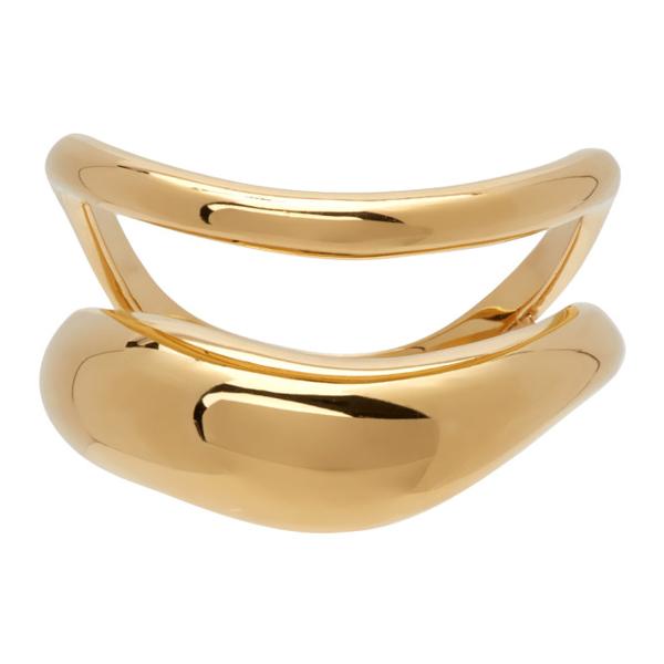 Alan Crocetti Gold Acme Hoop Ring