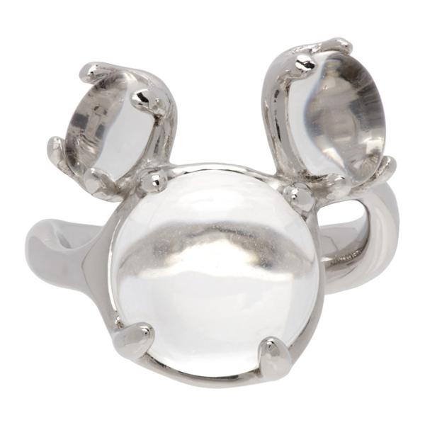 Alan Crocetti Silver Dew Ring In Rhodium