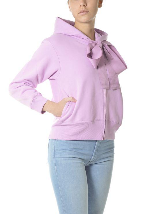 Patou Women's Je0079995475l Pink Cotton Sweatshirt In Purple