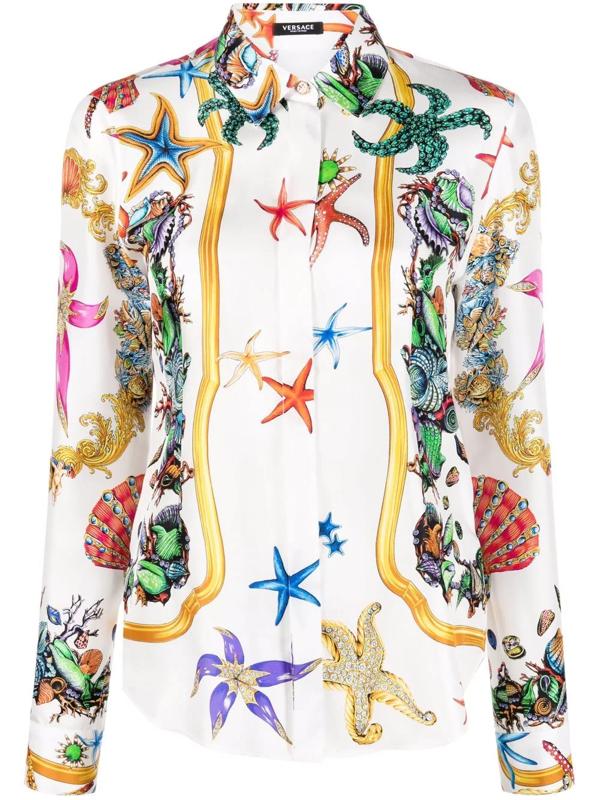 Versace Trésor De La Mer Shirt In White