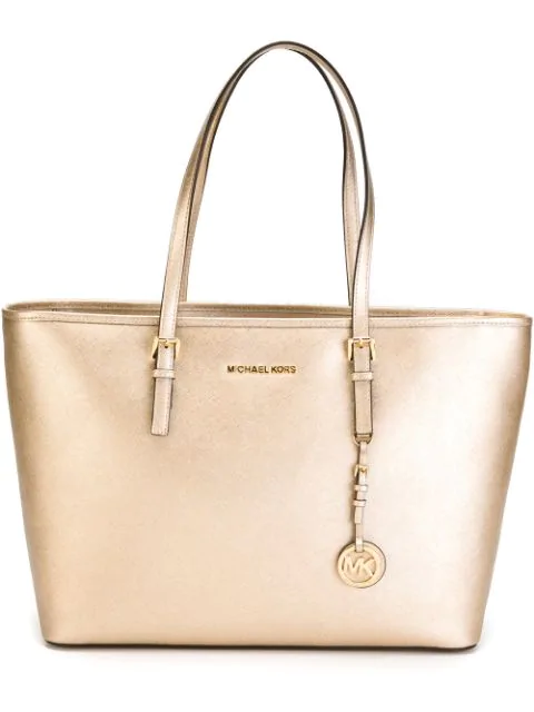 Michael Michael Kors Jet Set Travel Tote In Neutrals