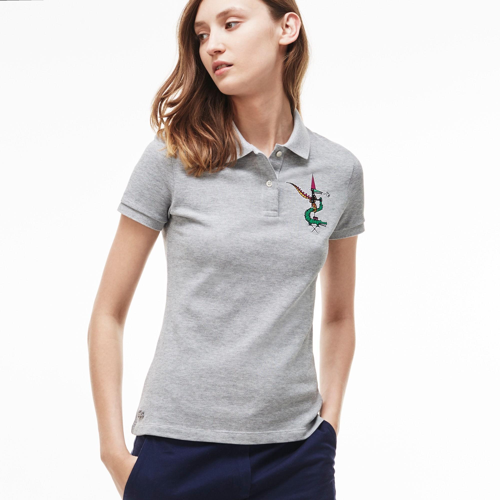 profesjonalna sprzedaż najlepsze buty ponadczasowy design Women's Jean-Paul Goude Polo Shirt - Silver Grey Chine