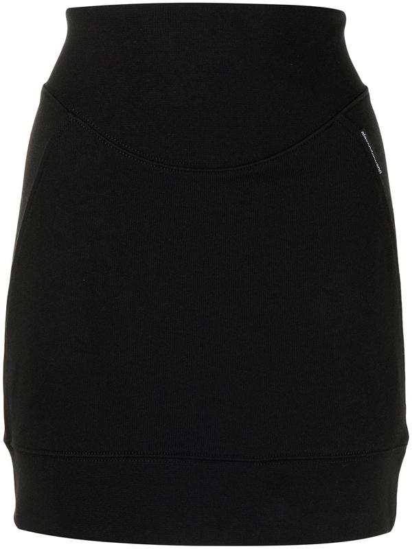 Alexander Wang T Sculpted Mini Skirt In Black