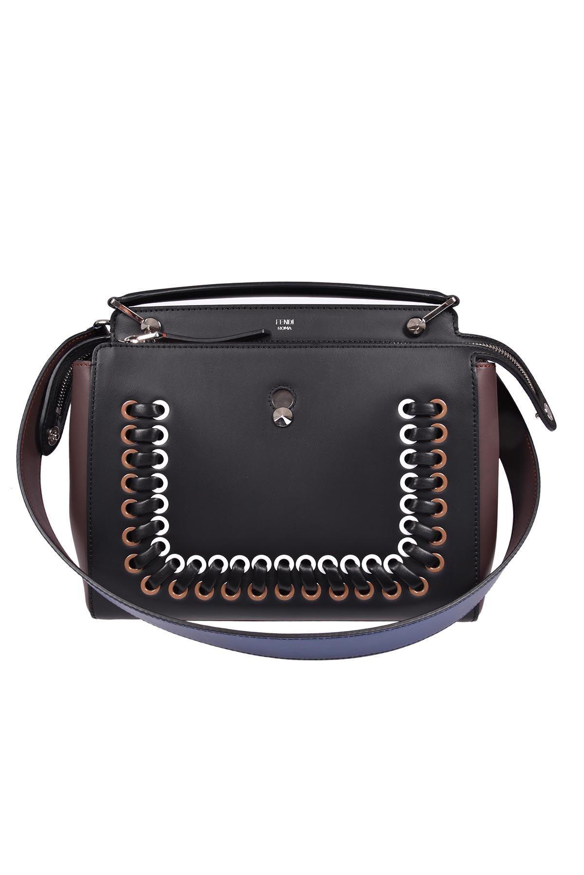 Fendi Dot Com Handbag In F07nm Nero+moresco+mlc+p