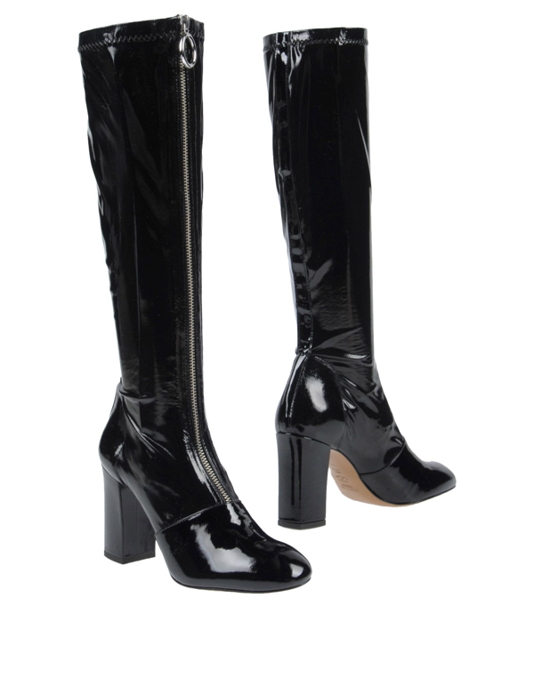 Boutique Moschino Patent Leather Boots In Black