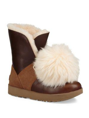 98cde8a5bb6 Isley Pompom Water-Resistant Boot in Chestnut
