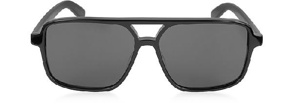 95b95f153c Saint Laurent 58Mm Square Navigator Sunglasses - Black  Black  Grey ...