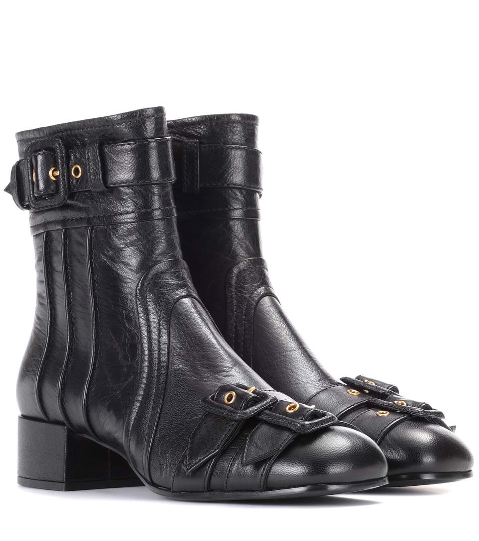 4a1a76efaad Leather ankle boots