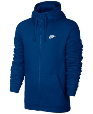 Nike Men's Fleece Zip Hoodie In Blujay