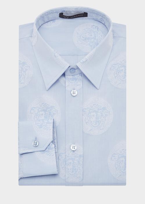Versace Floating Medusa Cotton Shirt In A46R Light