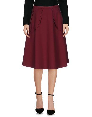Red Valentino Knee Length Skirt In Deep Purple