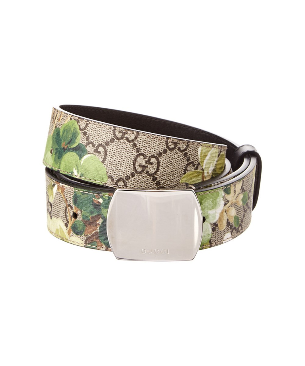 6488d74bfc9 Gucci Gg Blooms Canvas  Amp  Leather Plaque Belt  In Multi