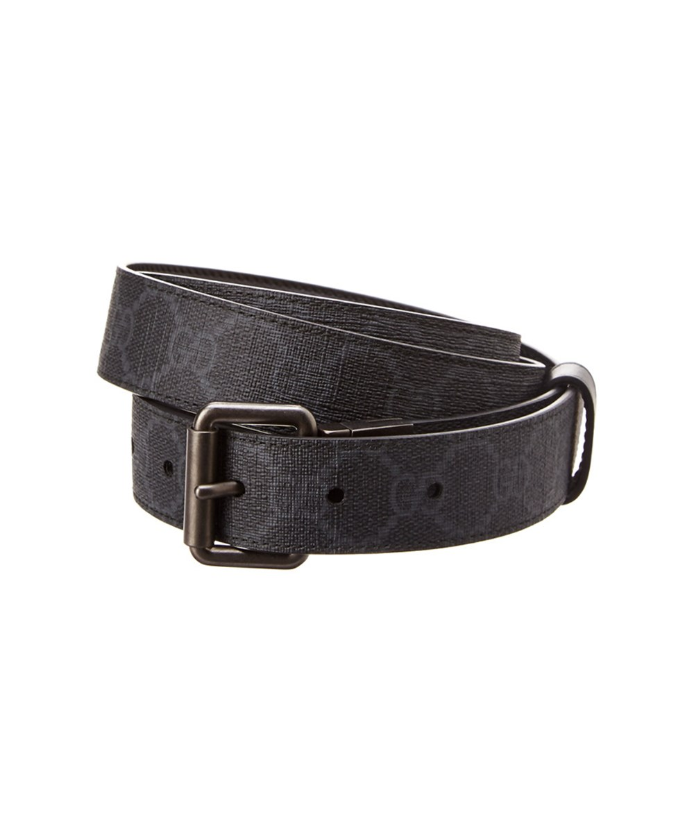 bcb009f97 Gucci Gg Supreme Canvas And Leather Reversible Belt' In Black   ModeSens